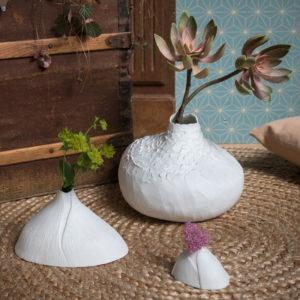 Vase soliflore Bulbe porcelaine de limoges biscuit dÚco design latelierdublanc 3