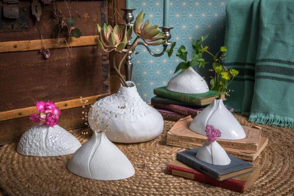 Vase soliflore Bulbe porcelaine de limoges biscuit dÚco design latelierdublanc