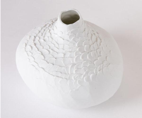 Vase soliflore porcelaine Bulbe xxl trÞs grande taille Úcaille biscuit latelierdublanc3