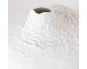 Vase soliflore porcelaine Bulbe xxl trÞs grande taille Úcaille biscuit latelierdublanc4