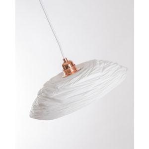abatjour porcelaine de limoges plafonnier suspension lampe latelierdublanc