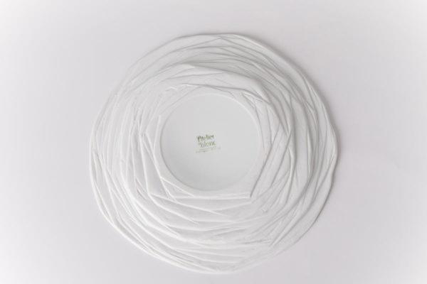 art de la table assiette plat dessous porcelaine de limoges latelier du blanc