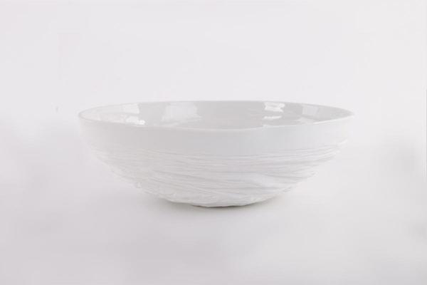 art de la table grand saladier porcelaine de limoges l atelier du blanc