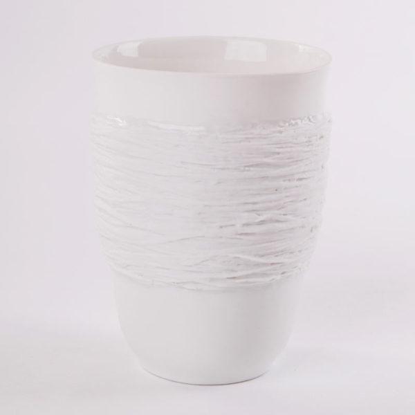 art de la table tasse anti chaleur ficelle porcelaine de limoges latelierdublanc