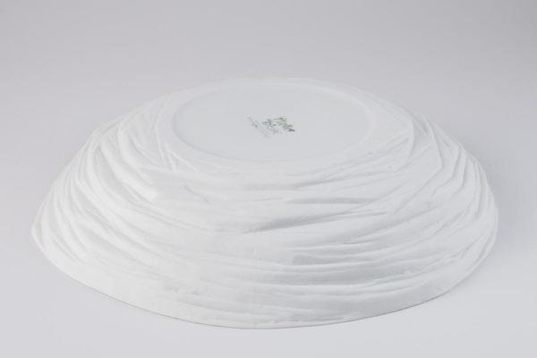 assiette creuse estampille porcelaine de limoges latelierdublanc
