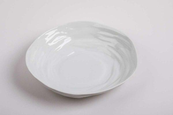 assiette creuse ronde contemporaine porcelaine de limoges latelier du blanc