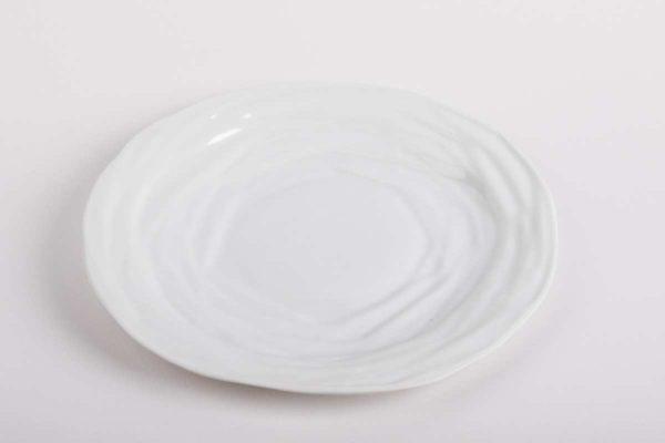 assiette plate ronde moderne porcelaine de limoges latelier du blanc