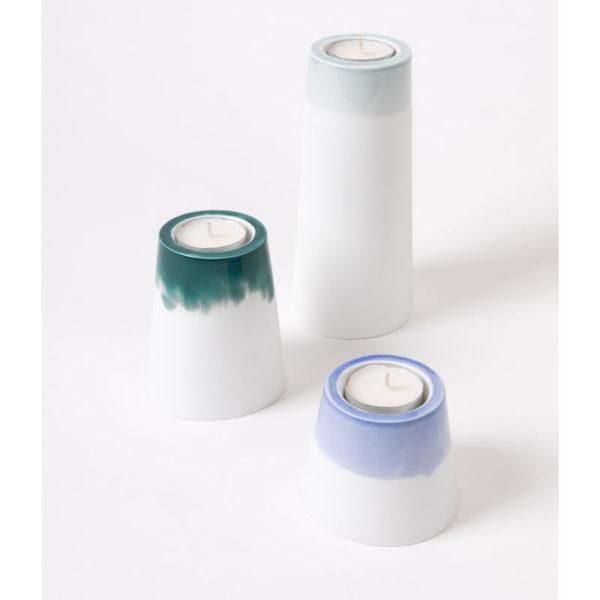 bougeoir deco de table design blanc porcelaine de limoges bougie chauffe plat latelierdublanc 2