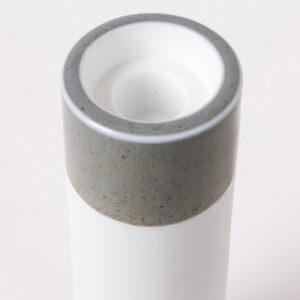 bougeoir deco design blanc celadon porcelaine de limoges detail bougie cierge chauffe plat latelierdublanc