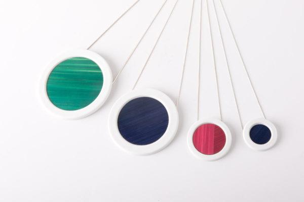 collier pendentif porcelaine couleur paille latelierdublanc