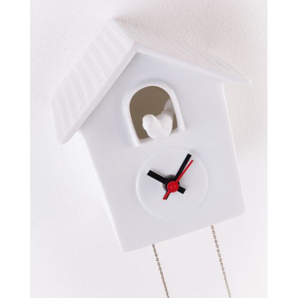 coucou horloge porcelaine de limoges deco interieur latelierdublanc
