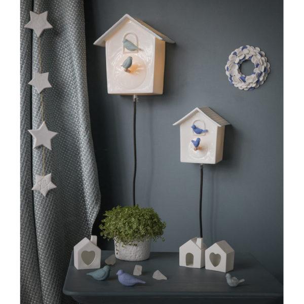 deco interieure cabane a oiseau luminaire design porcelaine de limoges latelierdublanc