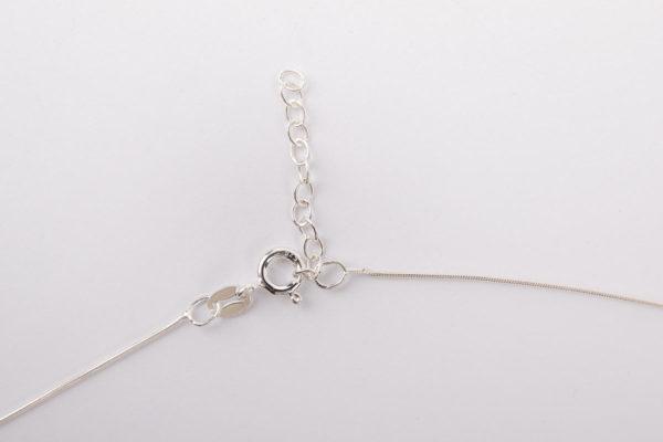 fermoir collier argent chaine serpentine l atelier du blanc