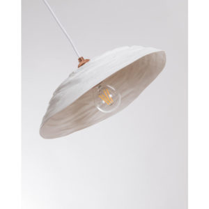 grand abat jour porcelaine de limoges plafonnier suspension lampe latelierdublanc