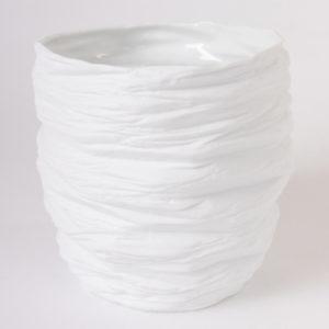 grand vase large ouverture taille S porcelaine de limoges blanche paradoxe latelierdublanc 1