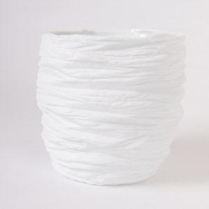 grand vase large ouverture taille S porcelaine de limoges blanche paradoxe latelierdublanc 3 1