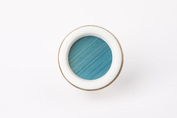 grosse bague reglable bleu clair porcelaine paille latelierdublanc