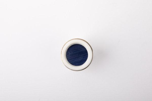 grosse bague reglable bleu fonce porcelaine marqueterie latelierdublanc