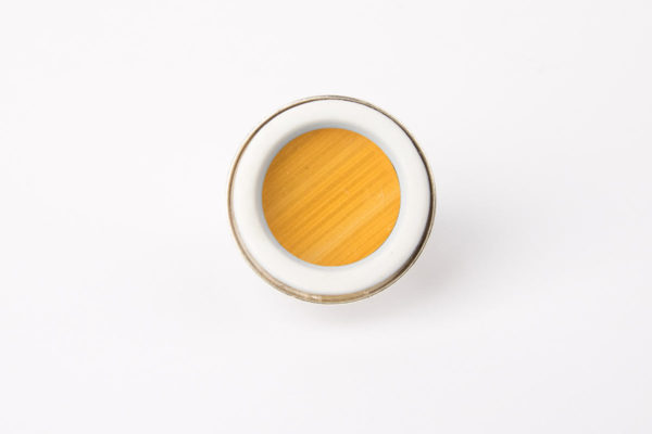 grosse bague ronde jaune porcelaine paille latelierdublanc