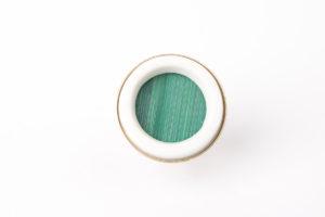 grosse bague ronde vert sapin porcelaine paille latelierdublanc
