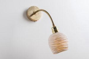 lampe applique murale flexible reglable laiton porcelaine l atelier du blanc