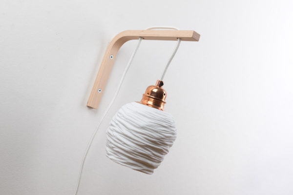 lampe murale interupteur retro moderne cuivre porcelaine l atelier du blanc