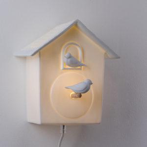 lampe murale interupteur veilleuse cabane oiseau coucou latelierdublanc