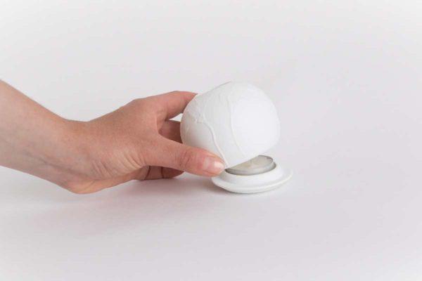 lithophanie coquelicot photophore biscuit porcelaine de limoges latelier du blanc
