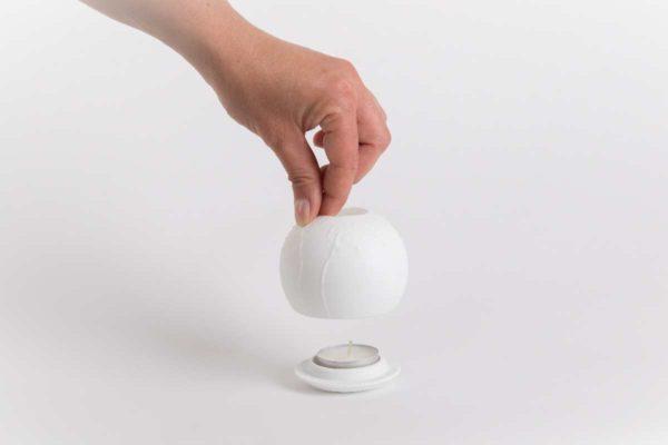 lithophanie coquelicot photophore biscuit porcelaine de limoges latelier du blanc2