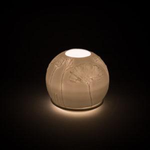 lithophanie fleur coquelicot photophore porcelaine de limoges l atelier du blanc