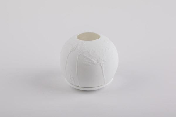 lithophanie pavot californie photophore porcelaine de limoges l atelier du blanc 2