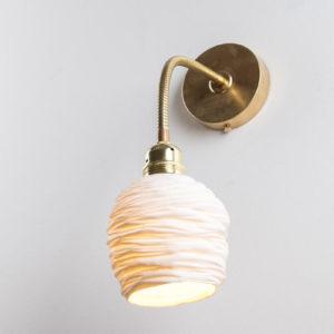 luminaire applique murale flexible reglable laiton porcelaine l atelier du blanc 2