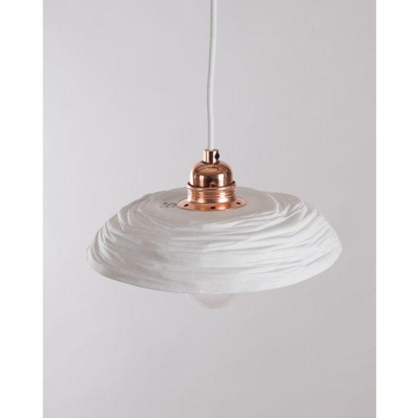 luminaire cuisine porcelaine de limoges plafonnier suspension vintage cuivre latelierdublanc 1