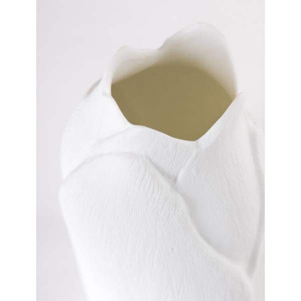 luminaire design porcelaine de limoges biscuit lampe d ambiance feuille detail latelierdublanc