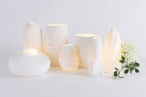 luminaire design porcelaine de limoges biscuit lampe d ambiance feuille latelierdublanc 3