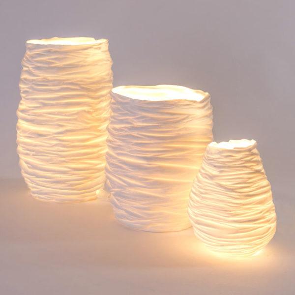 luminaire design porcelaine de limoges lampe d ambiance taille L latelierdublanc 3 1