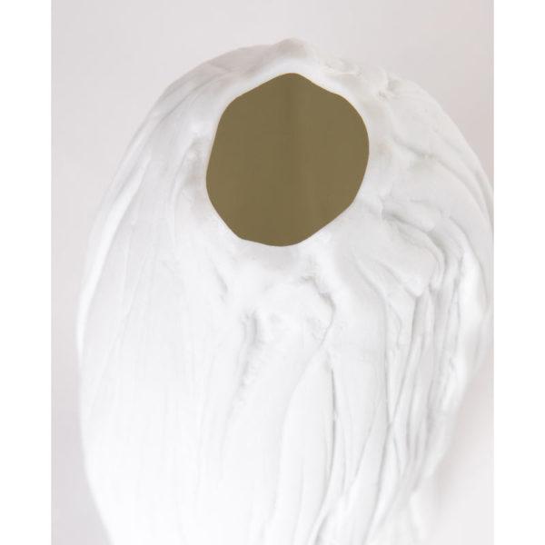 luminaire design porcelaine de limoges lampe de salon vrille detail latelierdublanc