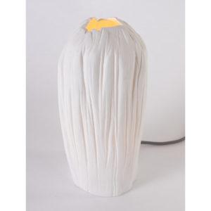 luminaire design porcelaine de limoges lampe tige latelierdublanc