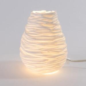 luminaire porcelaine de limoges lampe goutte latelierdublanc