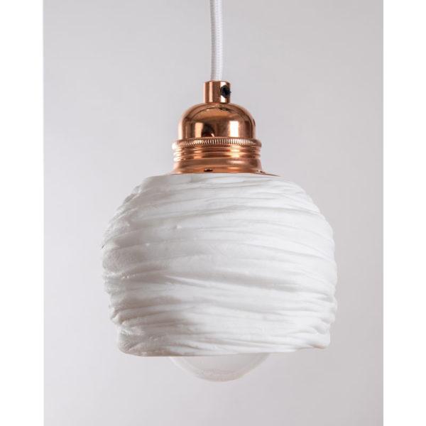 luminaire porcelaine de limoges plafonnier suspension cuivre lampe goutte latelierdublanc