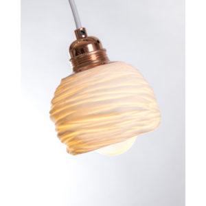 luminaire porcelaine de limoges plafonnier suspension lampe goutte latelierdublanc