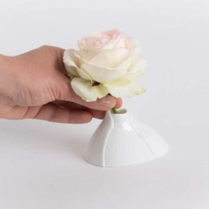 mini vase soliflore bulbe biscuit mat porcelaine de limoges latelierdublanc