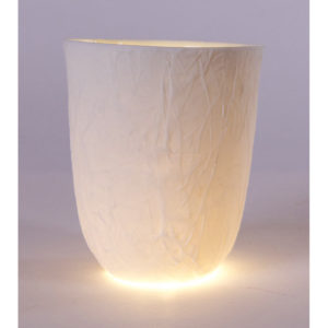 photophore rond papier soie porcelaine de limoges latelierdublanc
