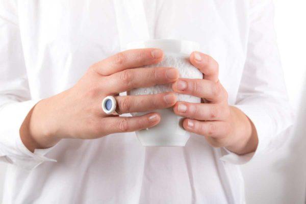 tasse anti chaleur double paroi porcelaine de limoges latelier du blanc