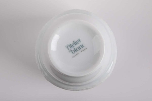 tasse anti chaleur estampille porcelaine de limoges latelier du blanc