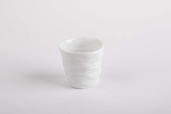 tasse cafe froisse expresso gobelet porcelaine de limoges l atelier du blanc
