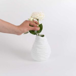 vase boule rond paradoxe porcelaine de limoges latelier du blanc