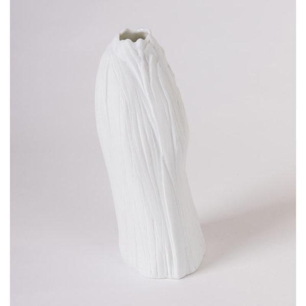 vase porcelaine blanche vrille soliflore latelierdublanc 2