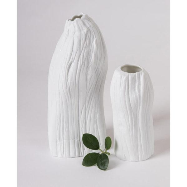 vase porcelaine tige petit modele vase vrille vÚgÚtal latelierdublanc