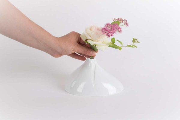 vase soliflore bulbe email brillant porcelaine de limoges latelierdublanc